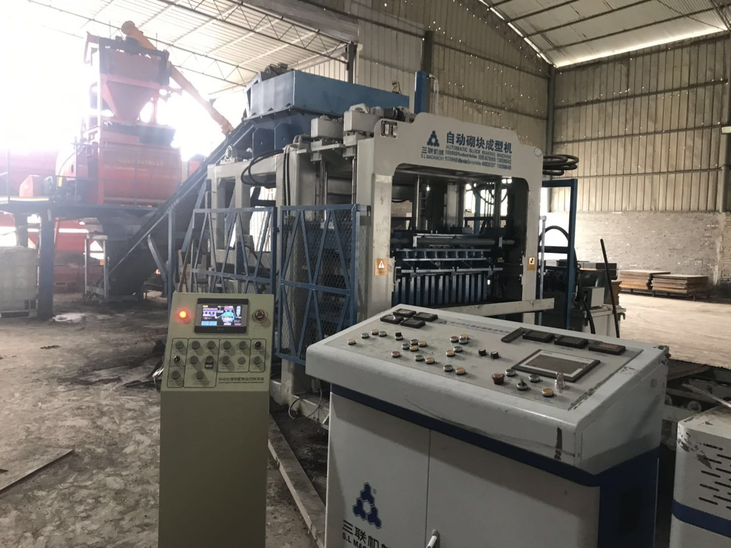 qt10-15 hollow block machine di shanxi china